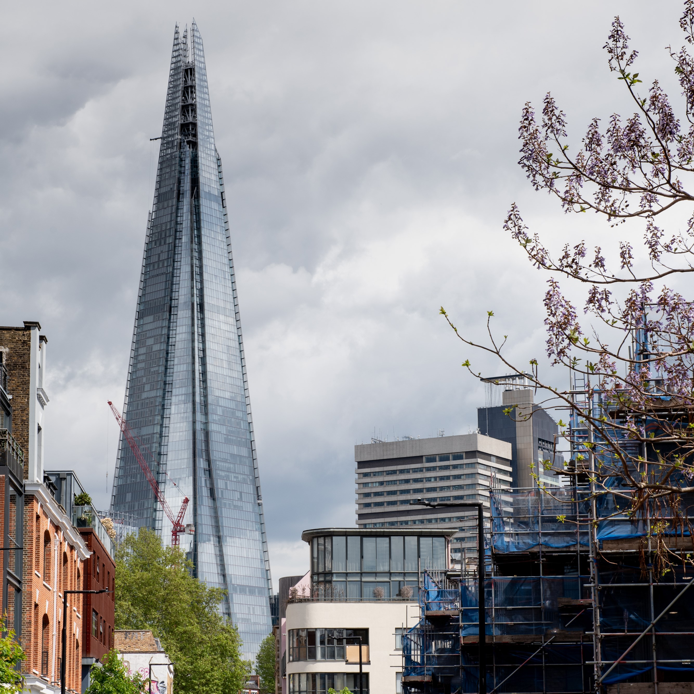 A view of the Shard from outside 169 Union Street
